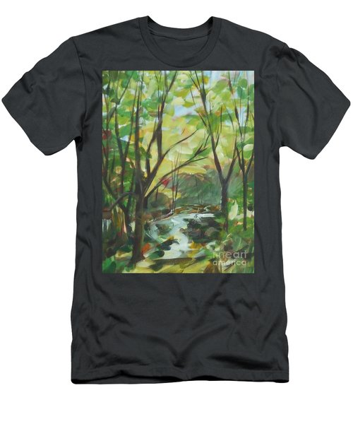 Glowing From The Flood Men's T-Shirt (Athletic Fit)