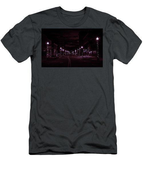 Glowing Streets Downtown Men's T-Shirt (Athletic Fit)