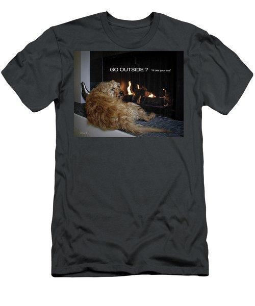 Go Outside ? Men's T-Shirt (Athletic Fit)