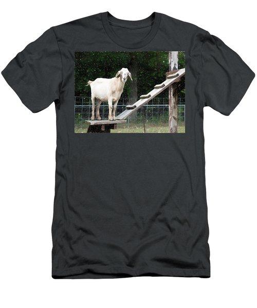 Goat Smile Men's T-Shirt (Athletic Fit)