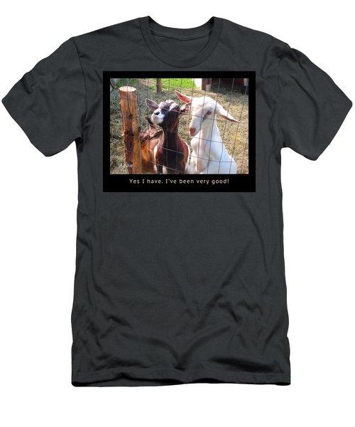 Goats Poster Men's T-Shirt (Slim Fit) by Felipe Adan Lerma