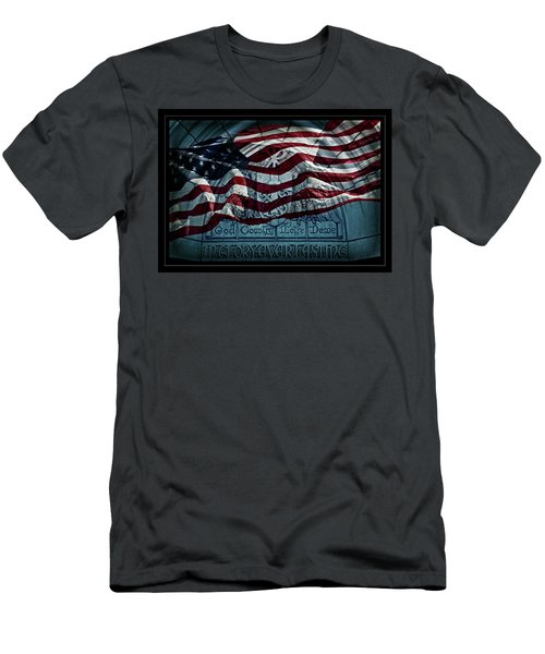 God Country Notre Dame American Flag Men's T-Shirt (Athletic Fit)