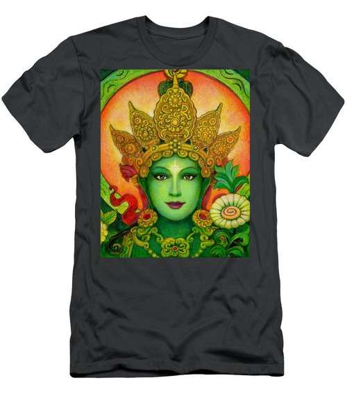 Goddess Green Tara's Face Men's T-Shirt (Athletic Fit)