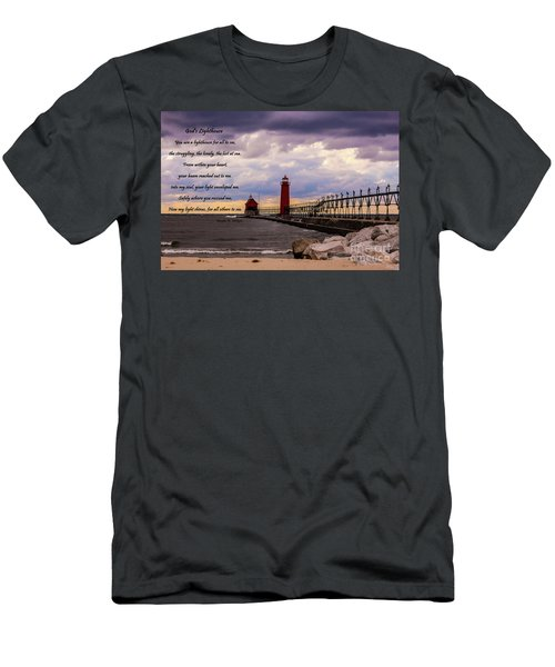 God's Lighthouse Men's T-Shirt (Athletic Fit)