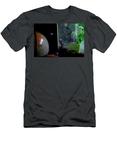 Godzilla Watches And The Moon Is Blue Men's T-Shirt (Athletic Fit)