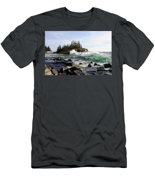 Going Wild Men's T-Shirt (Slim Fit) by Sandra Updyke