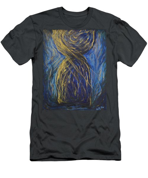 Gold And Blue Latte Stone Men's T-Shirt (Athletic Fit)