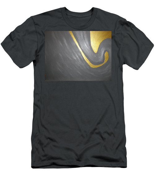 Gold And Gray Men's T-Shirt (Athletic Fit)