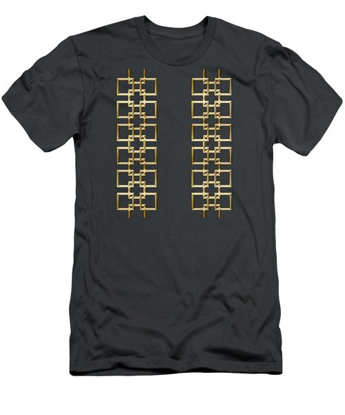 Gold Geo 5 Men's T-Shirt (Athletic Fit)