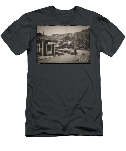 Men's T-Shirt (Slim Fit) featuring the photograph Gold Hill Station by Mitch Shindelbower