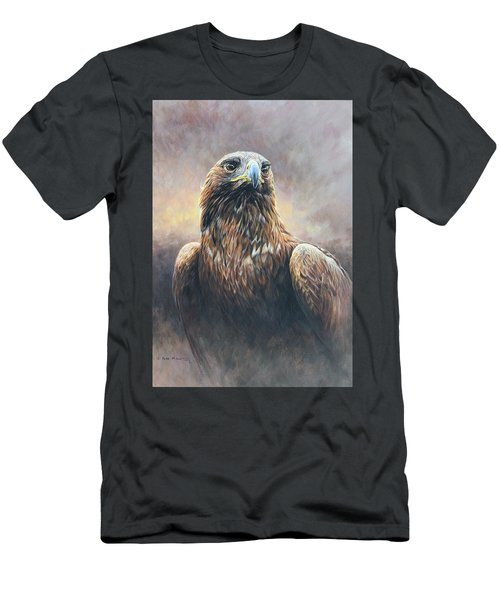 Golden Eagle Portrait Men's T-Shirt (Athletic Fit)