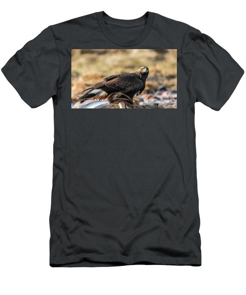 Men's T-Shirt (Slim Fit) featuring the photograph Golden Eagle's Glance by Torbjorn Swenelius