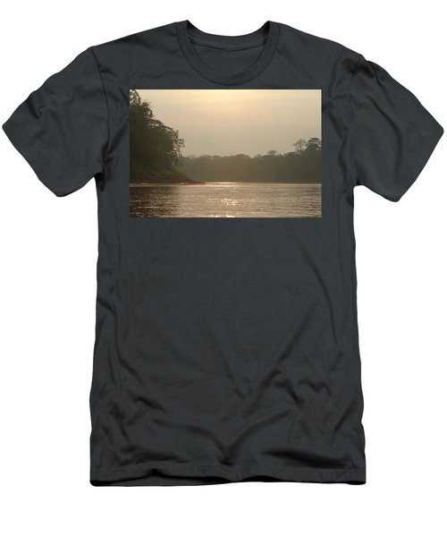 Golden Haze Covering The Amazon River Men's T-Shirt (Athletic Fit)