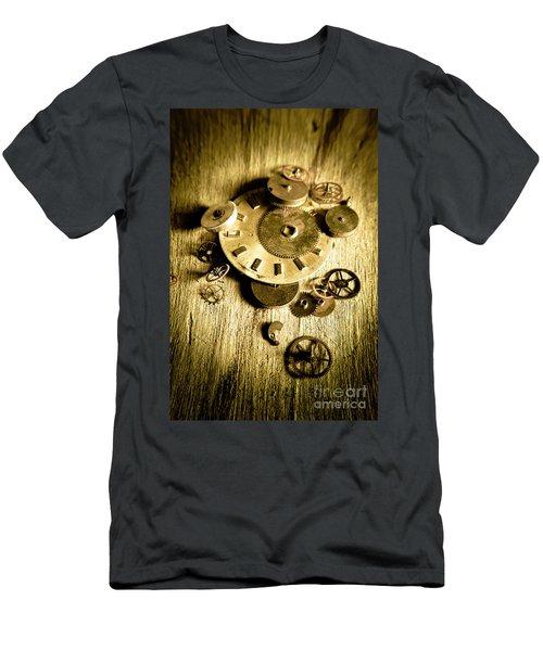 Golden Industry Gears  Men's T-Shirt (Athletic Fit)