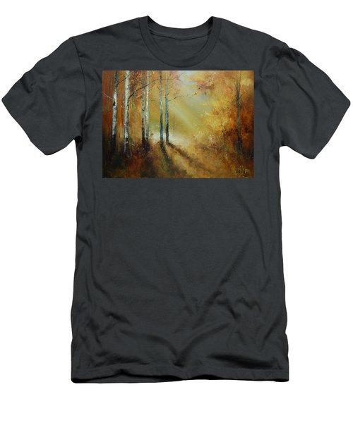 Golden Light In Autumn Woods Men's T-Shirt (Athletic Fit)