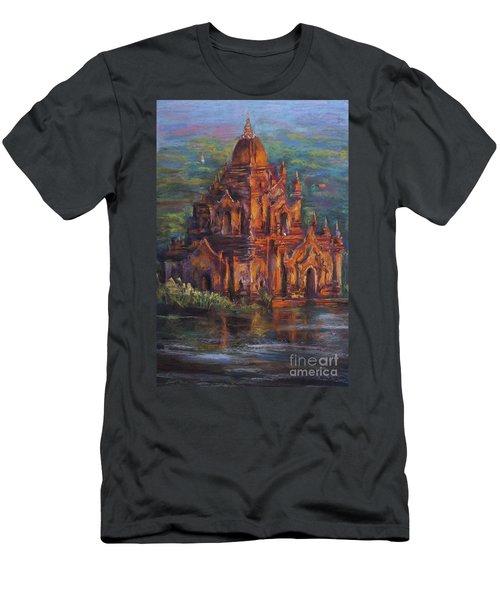 Golden Light Men's T-Shirt (Slim Fit) by Jieming Wang