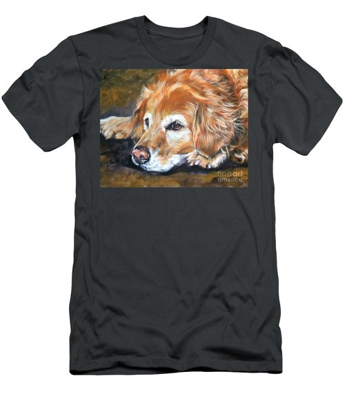 Golden Retriever Senior Men's T-Shirt (Athletic Fit)