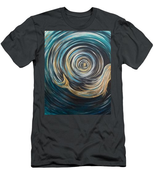 Golden Sirena Mermaid Spiral Men's T-Shirt (Athletic Fit)