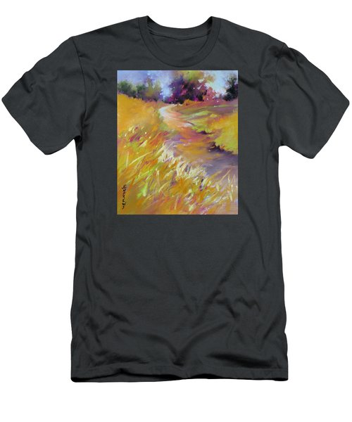 Men's T-Shirt (Slim Fit) featuring the painting Golden Splendor by Rae Andrews