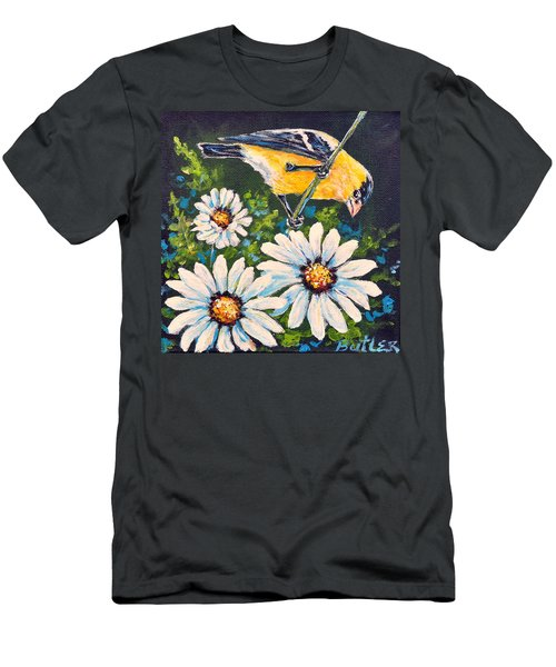 Goldfinch And Daisy Men's T-Shirt (Athletic Fit)