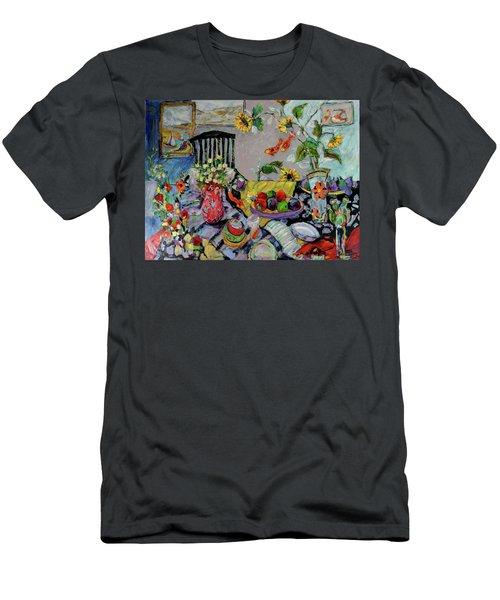 Goldfish Rumble Men's T-Shirt (Slim Fit) by Sharon Furner