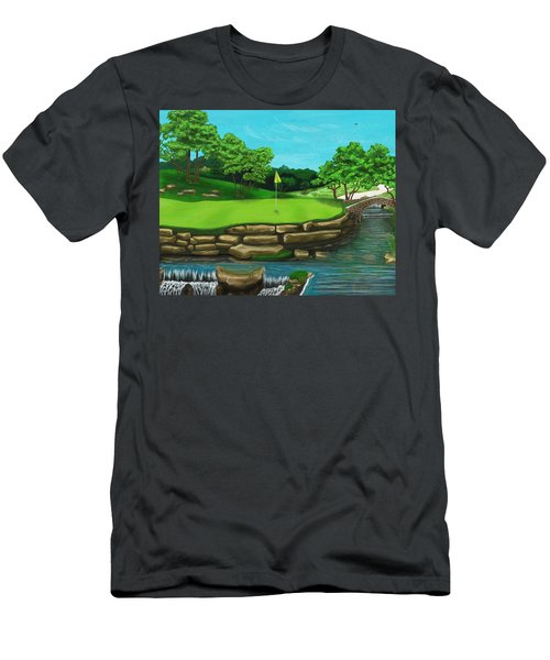 Golf Green Hole 16 Men's T-Shirt (Athletic Fit)