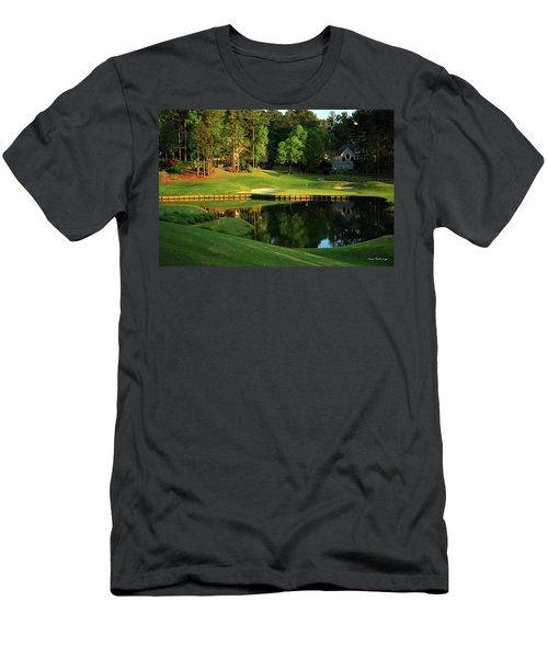 Golf The Landing #3 Reynolds Plantation Lake Oconee Ga Art Men's T-Shirt (Athletic Fit)