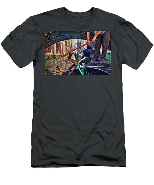 Men's T-Shirt (Slim Fit) featuring the photograph Gondola 2 by Allen Beatty