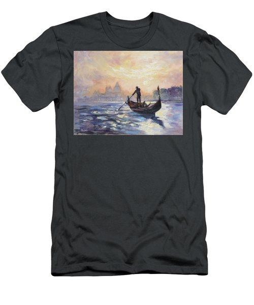 Gondolier Men's T-Shirt (Slim Fit) by Irek Szelag