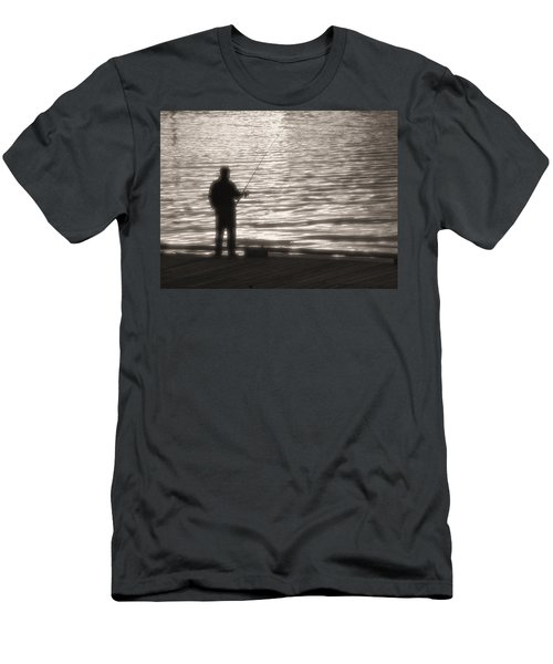 Gone Fishing Men's T-Shirt (Slim Fit) by Mark Alan Perry