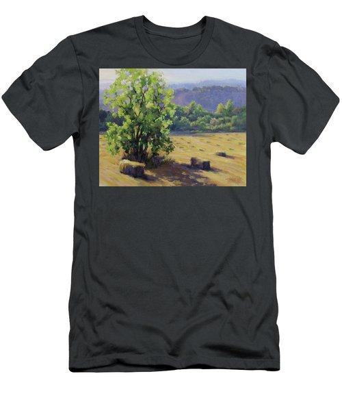 Good Day's Work Men's T-Shirt (Slim Fit) by Karen Ilari