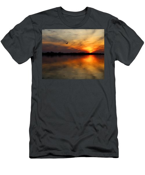 Good Morning Men's T-Shirt (Slim Fit) by Judy Vincent