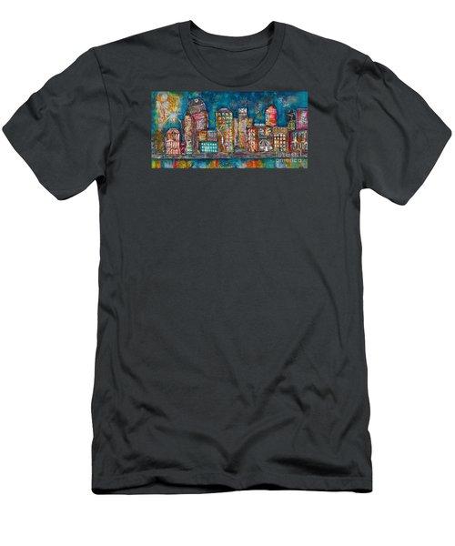 Goodnight Nashville Men's T-Shirt (Slim Fit) by Kirsten Reed