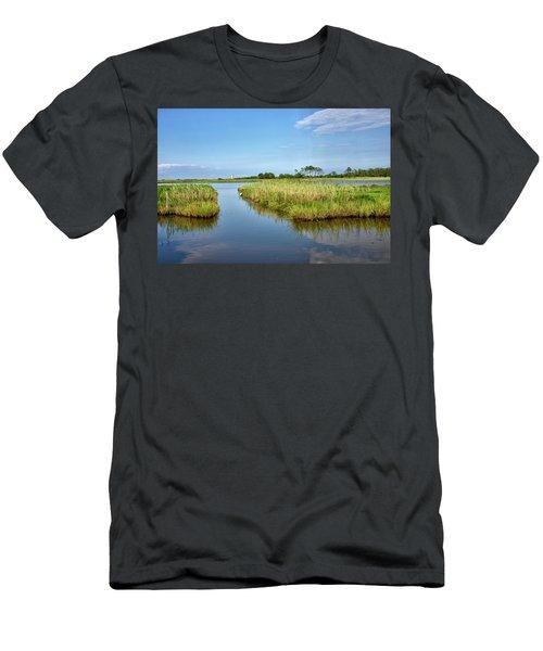Men's T-Shirt (Slim Fit) featuring the photograph Gordons Pond - Cape Henlopen Park - Delaware by Brendan Reals