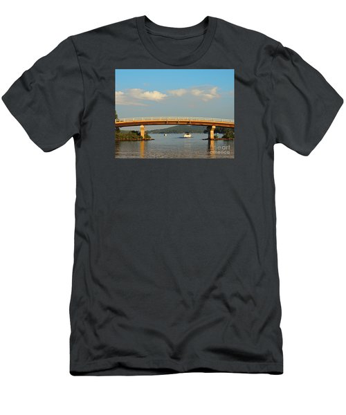 Men's T-Shirt (Slim Fit) featuring the photograph Governor's Island Bridge by Mim White