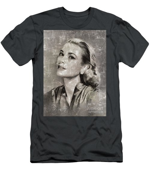 Grace Kelly By Mary Bassett Men's T-Shirt (Athletic Fit)