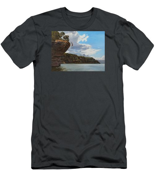 Graceful Cliff Dive Men's T-Shirt (Athletic Fit)