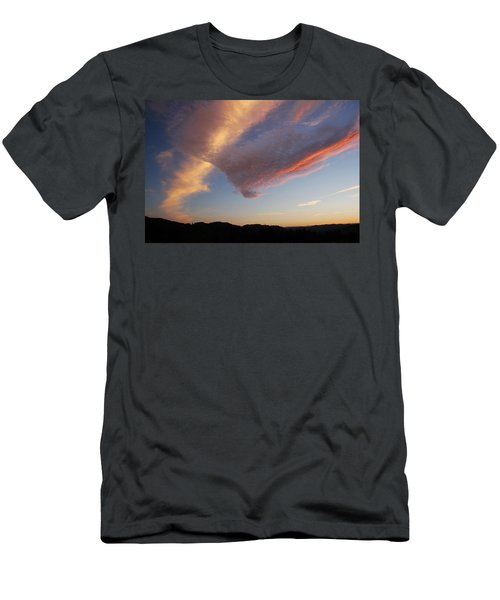 Graceful Pink Clouds Men's T-Shirt (Slim Fit) by Katie Wing Vigil