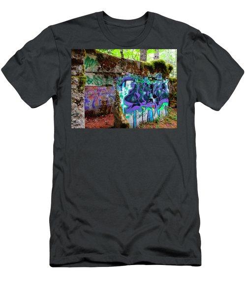 Graffiti Illusion Men's T-Shirt (Athletic Fit)