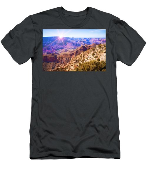 Men's T-Shirt (Athletic Fit) featuring the photograph Grand Canyon Arizona 7 by Tatiana Travelways