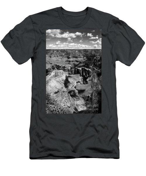 Grand Canyon Bw Men's T-Shirt (Slim Fit) by RicardMN Photography