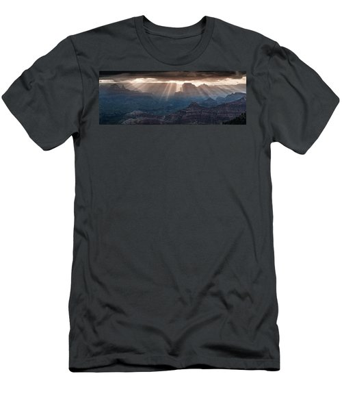 Men's T-Shirt (Athletic Fit) featuring the photograph Grand Canyon Morning Light Show Pano by William Lee