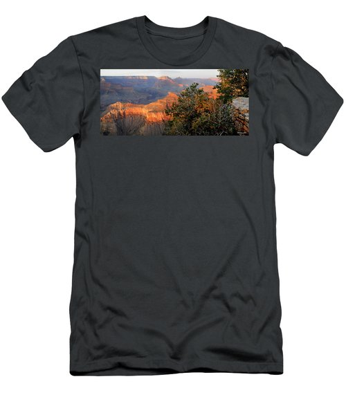 Grand Canyon South Rim - Red Berry Bush Along Path Men's T-Shirt (Athletic Fit)