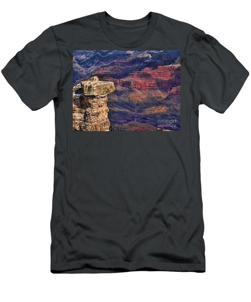 Grand Canyon Stacked Rock Men's T-Shirt (Athletic Fit)