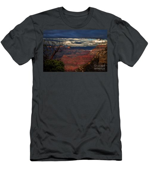 Men's T-Shirt (Slim Fit) featuring the photograph Grand Canyon Storm Clouds by John A Rodriguez