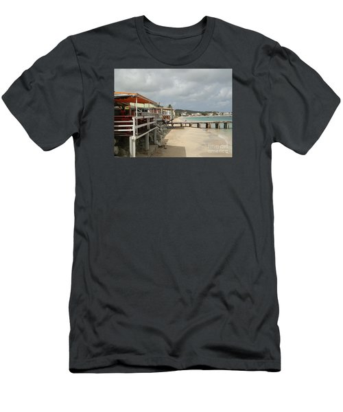 Grand Case Pier Men's T-Shirt (Athletic Fit)