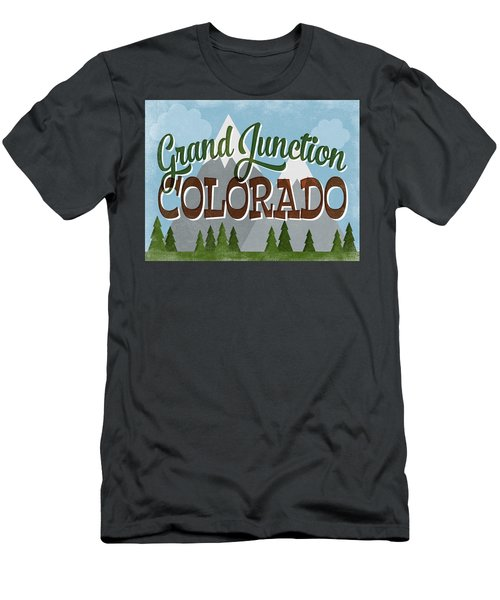 Grand Junction Colorado Snowy Mountains Men's T-Shirt (Athletic Fit)