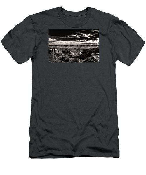 Men's T-Shirt (Slim Fit) featuring the digital art Grand Junction In The Valley Below   by William Fields