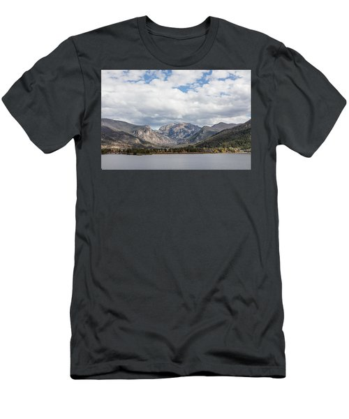 Men's T-Shirt (Slim Fit) featuring the photograph Grand Lake -- Largest Body Of Water In Colorado by Carol M Highsmith