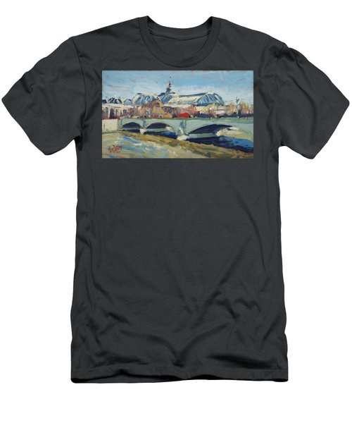 Grand Palace In Winter Paris Men's T-Shirt (Athletic Fit)
